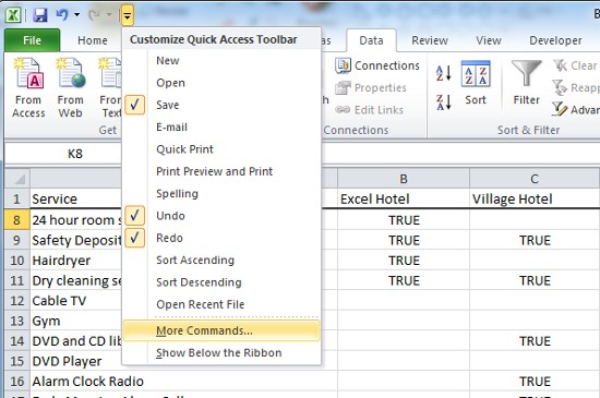 how to add drop down options in excel 2013