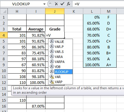 Excel Formula Help Vlookup For Changing Percentages To