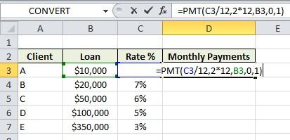 Excel Formula Help Pmt For Loan Repayments
