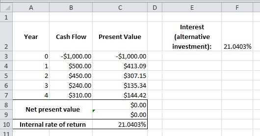 Excel Formula Help Choosing Between Investments An Introduction